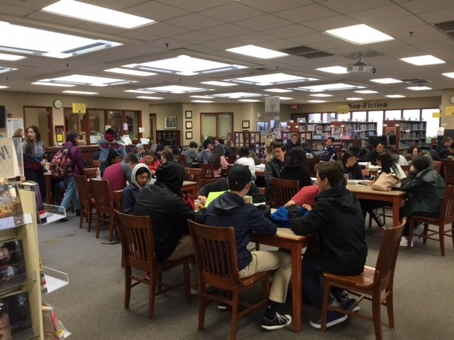 WR Library is open before school, brunch, lunch and after school