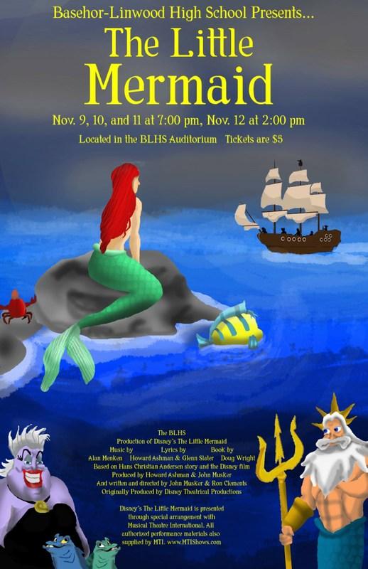 Little Mermaid Musical Flyer