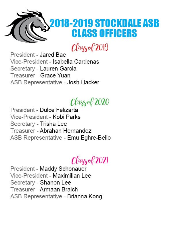 2018 Class Officers