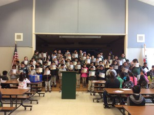 Students receiving Perfect Attendance awards
