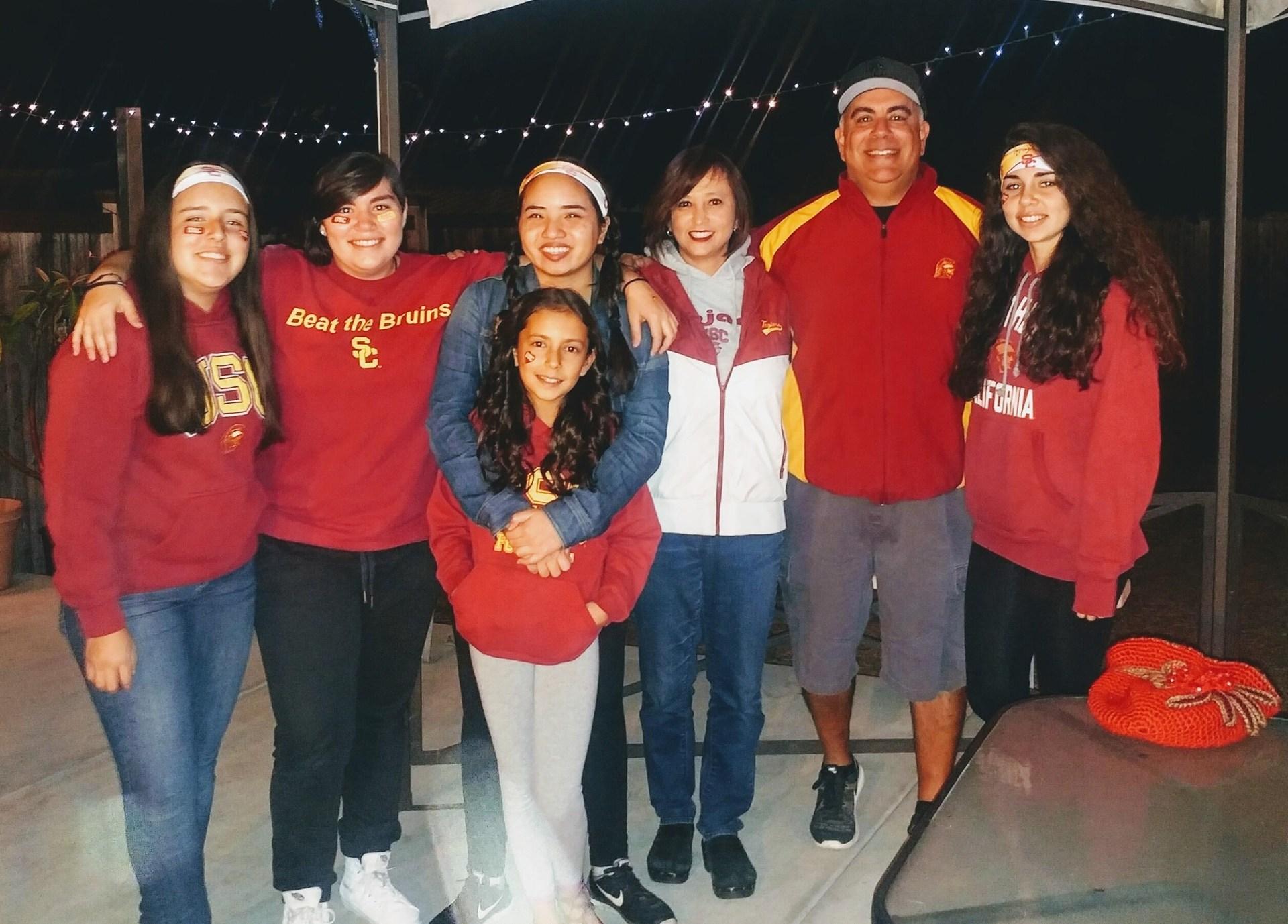 Perdomo Family  - USC vs. UCLA game
