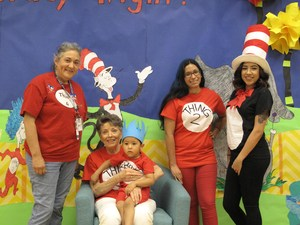 Bryan family dressed in Dr. Seuss costumes