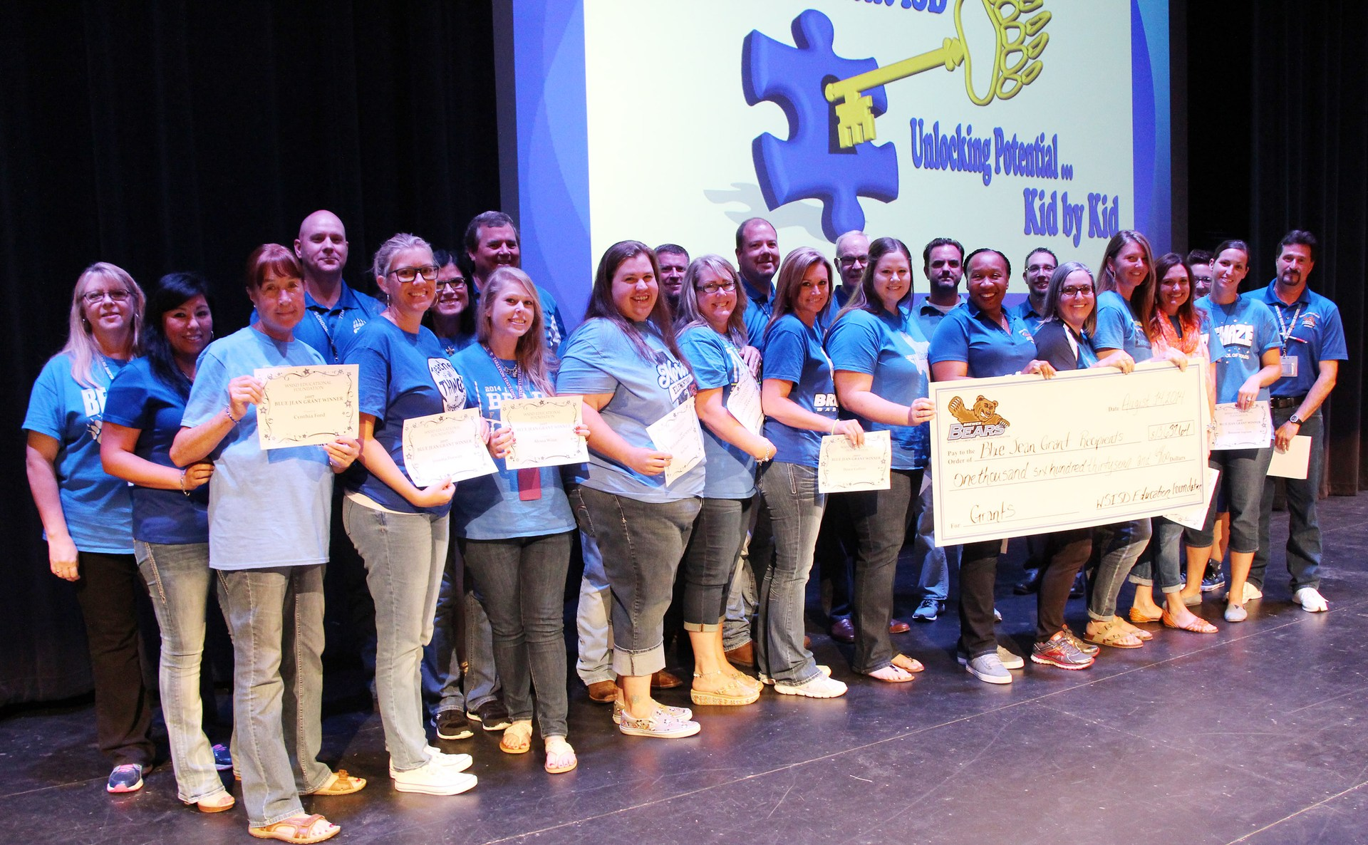 The Foundation kicked off the school year by awarding nearly $14,000 in grants to educators who contribute to the Blue Jean Monday program.