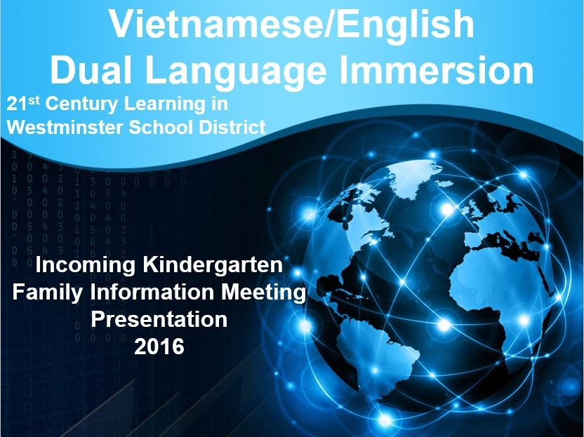 Vietnamese Dual Immersion Family Information Night 2017