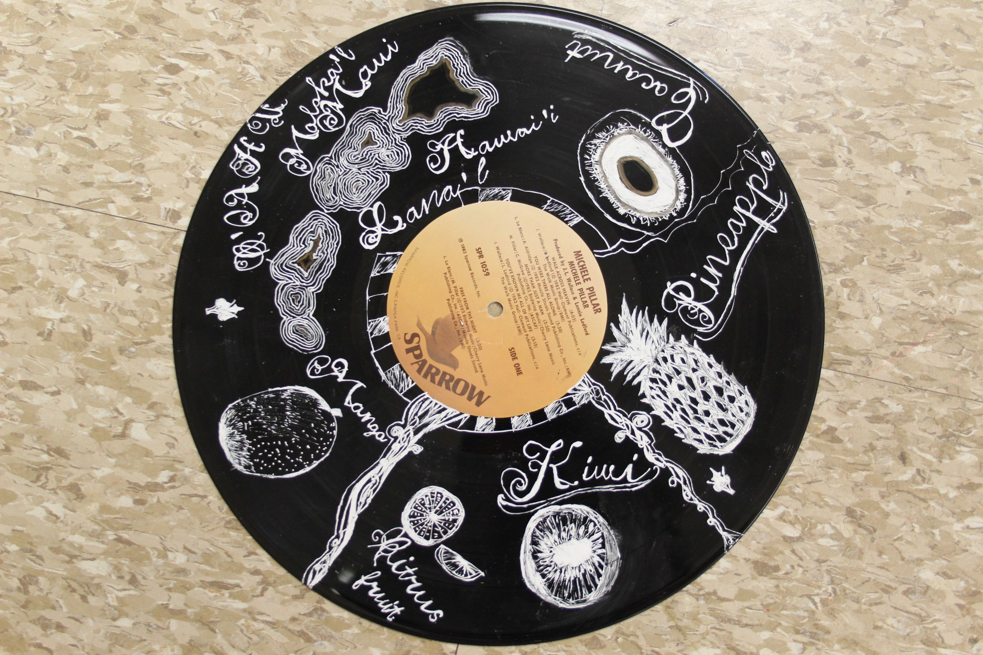 drawing of a record