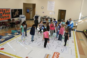 Students explore The Giant Map of Colorado