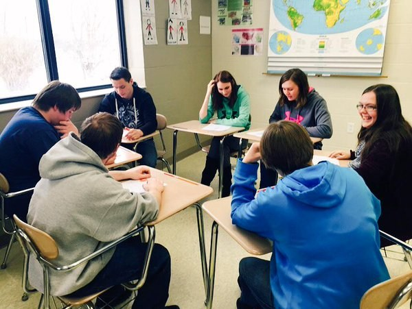 US II students preparing for Berlin Conference simulation