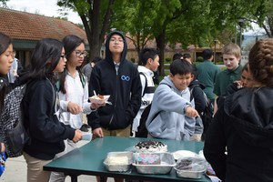 Leadership students bake and organize a cake walk to raise money for the LLS.