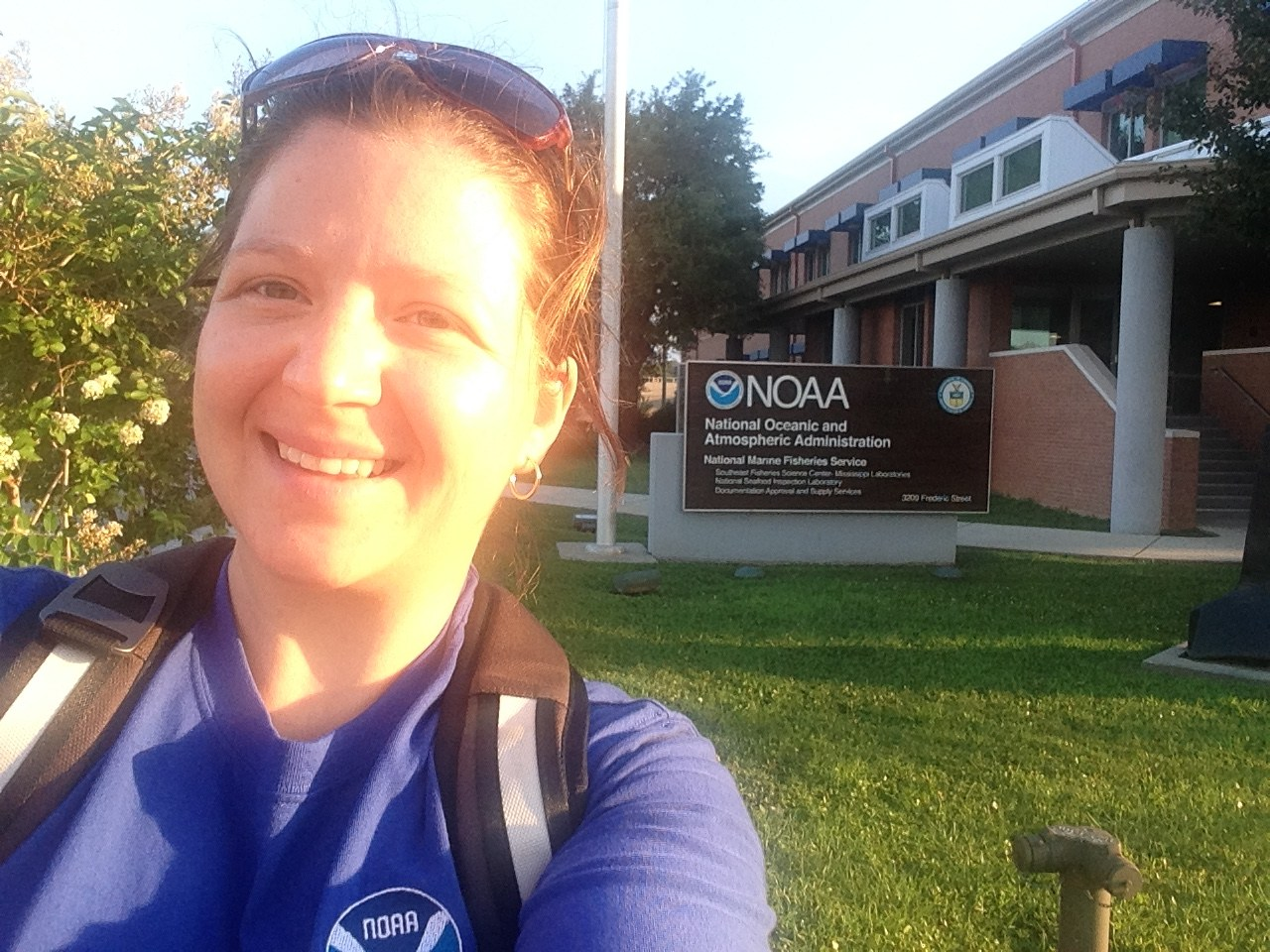 Me oustide the NOAA lab in Pascagoula, Mississippi.