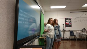 SMS Students present to Shark Tank Judges