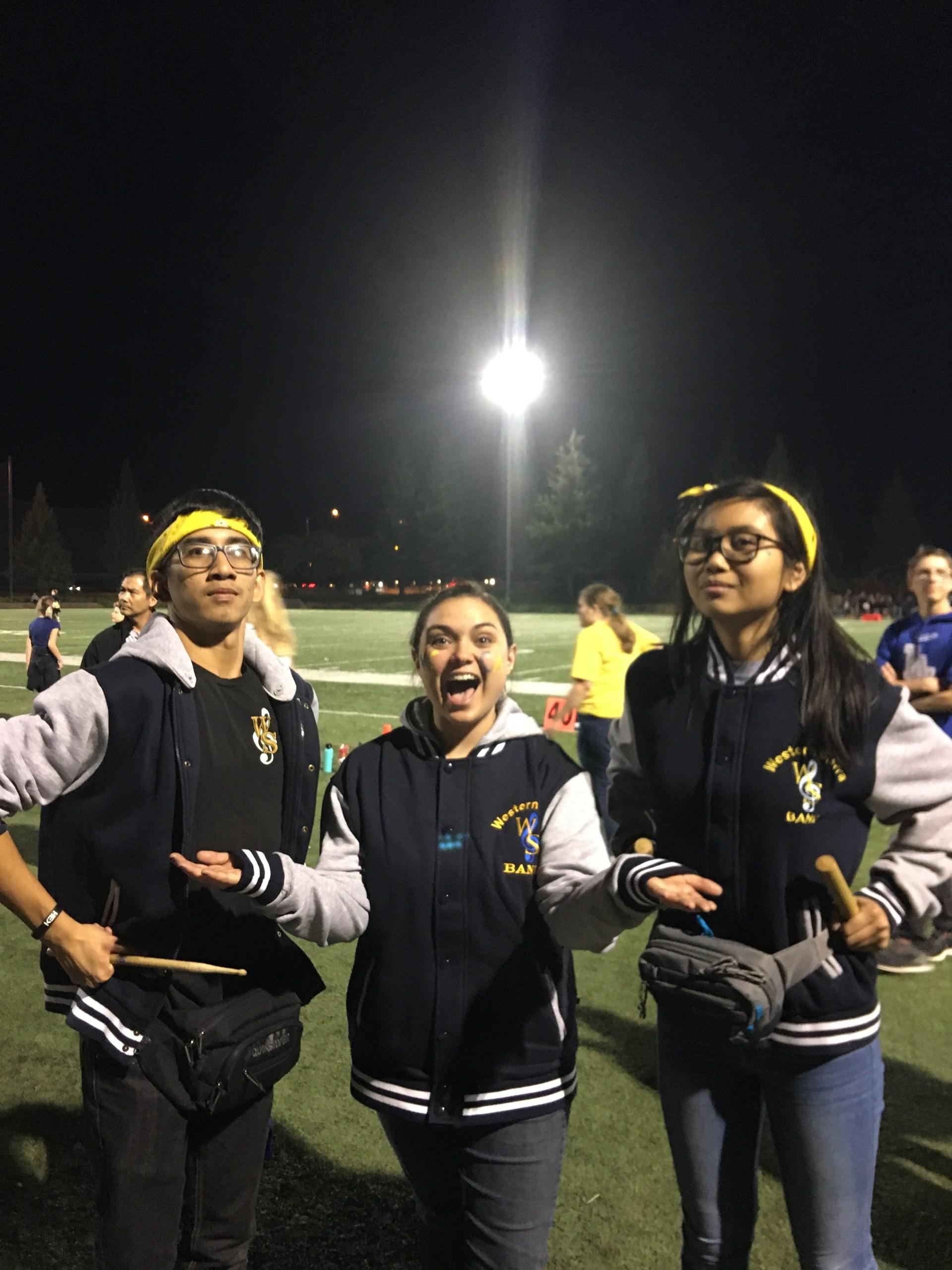 Student leadership at the Football Games!