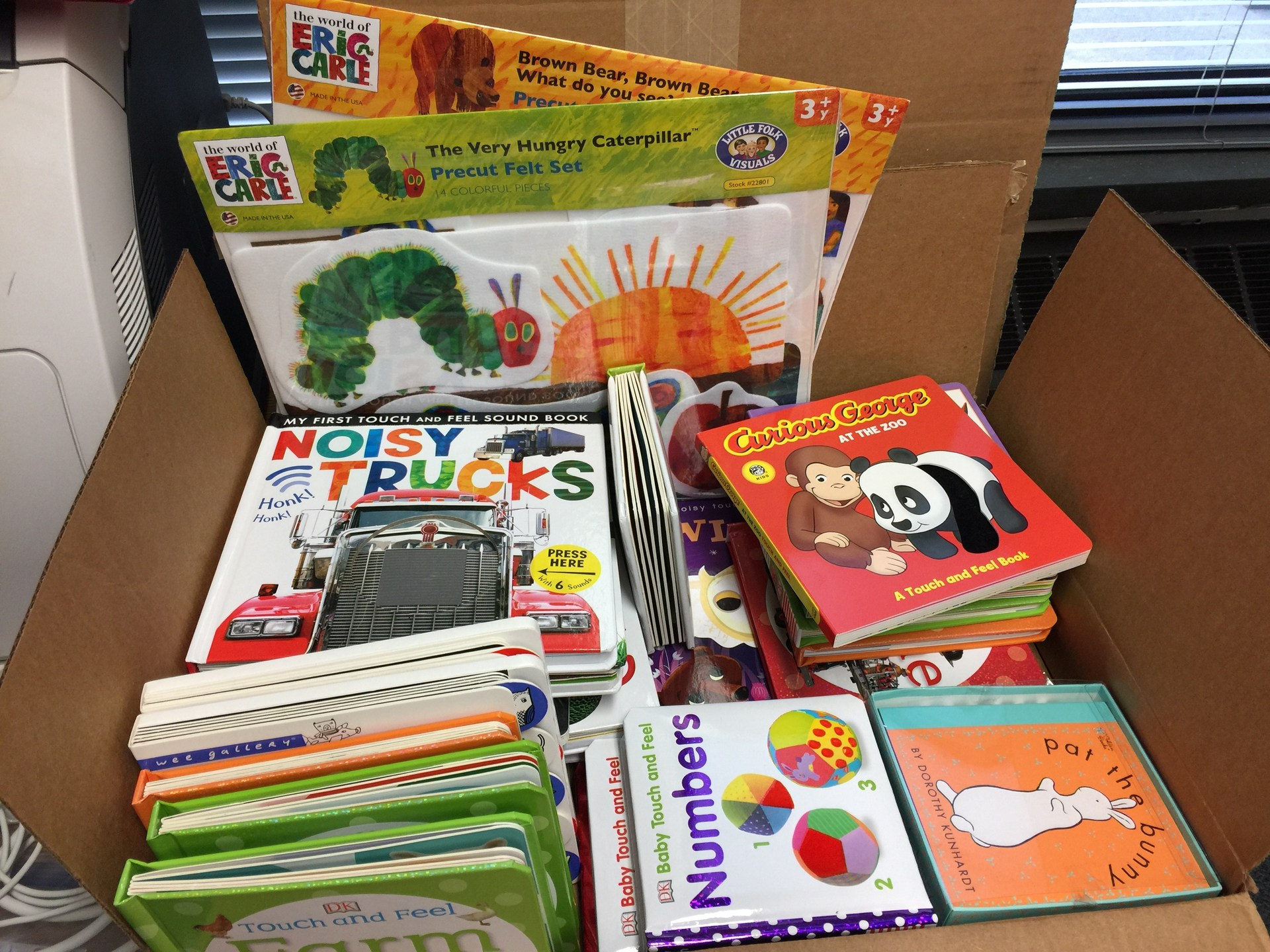 Thanks, Donors Choose, for helping Stoner-Thomas get new sensory books!