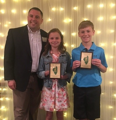 IPA Leadership award winners with Mr. Barton