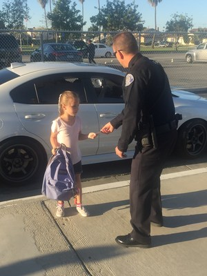Officer Shakes Hands