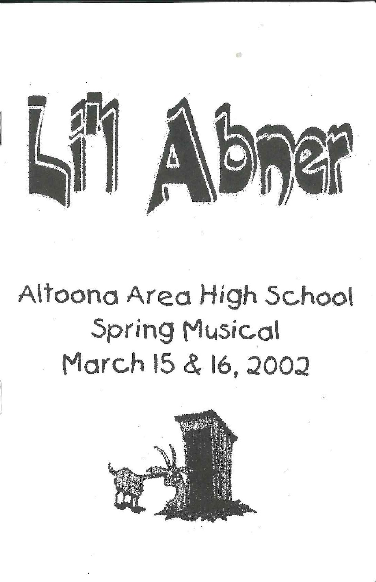 Lil Abner Program