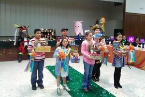 Mission CISD 4th and 5th grade students at the Texas Citrus Fiesta Shoe Box Competition.