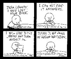 Peanuts Cartoon about Library Fines