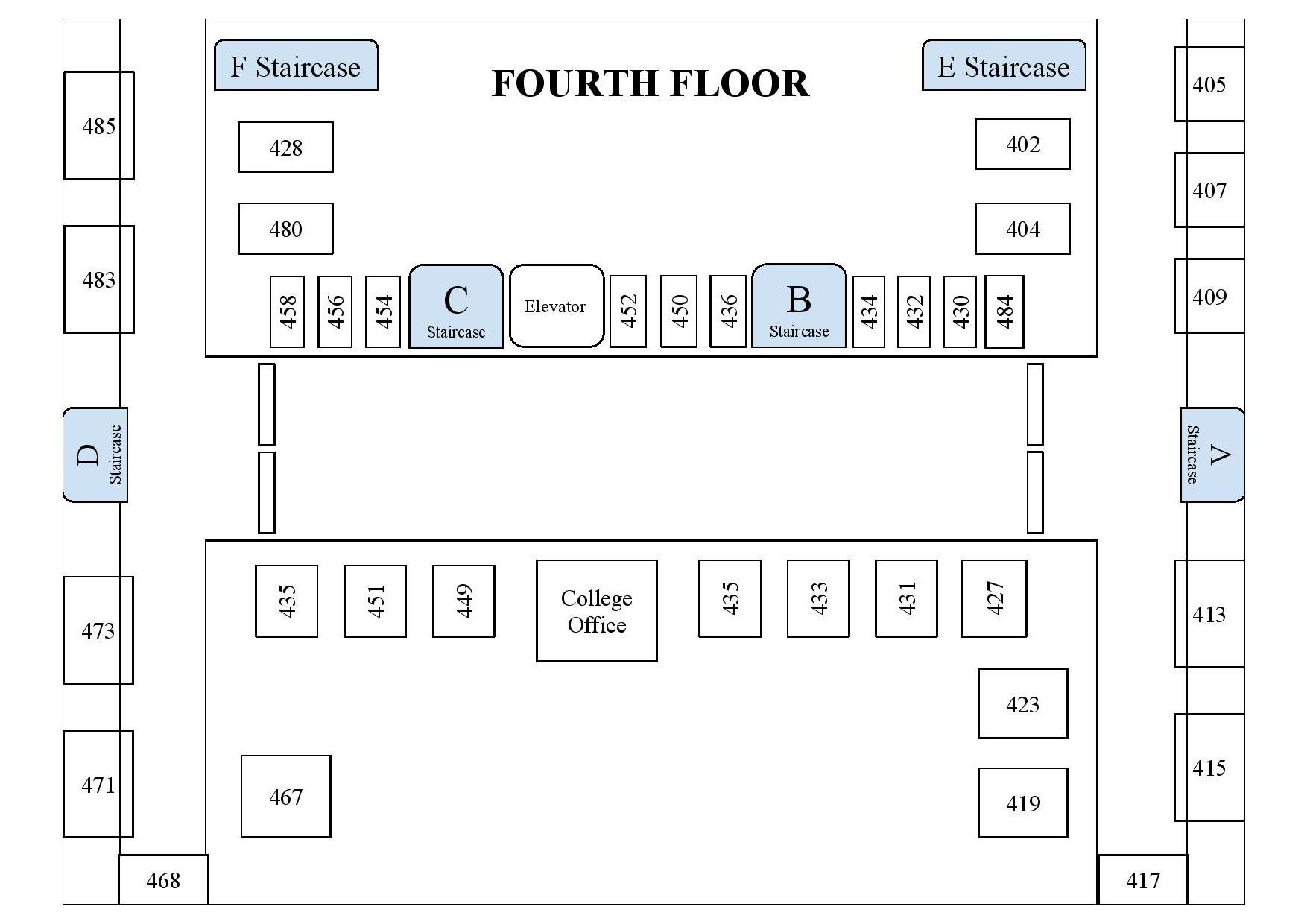 Campus Map- Fourth Floor