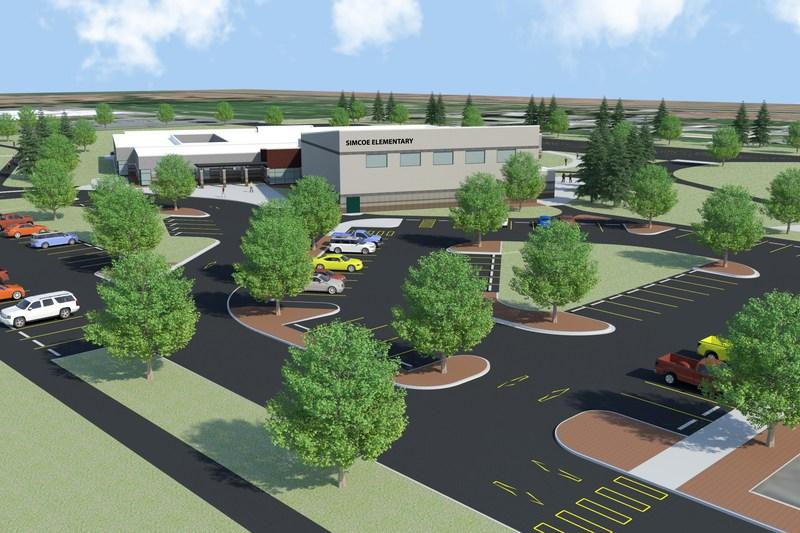 Artist rendering of Simcoe Elementary School