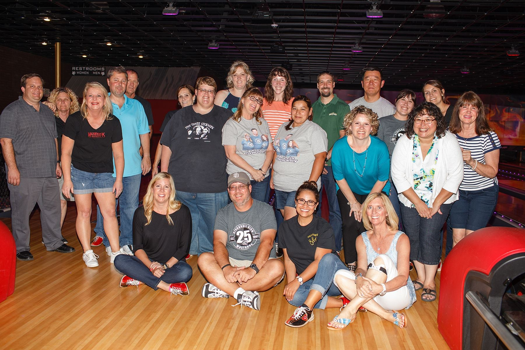 Out bowling with the staff