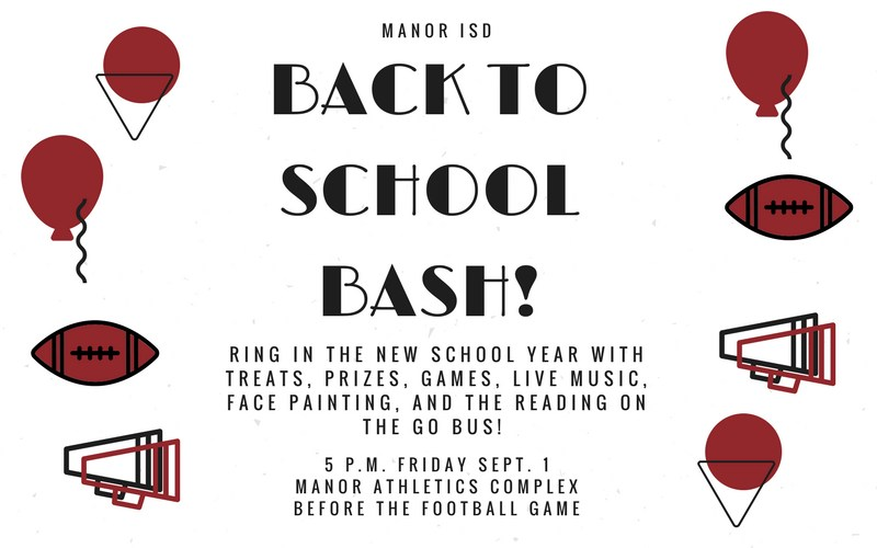 Come to the Manor ISD Back to School Bash Friday Sept. 1! Thumbnail Image