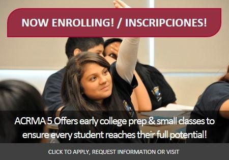 Now Enrolling 6th-8th Grades / Inscripciones para 6vo a 8vo grado Thumbnail Image