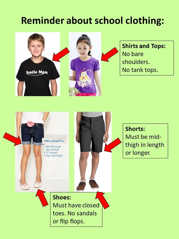 School Clothing Guidelines Thumbnail Image