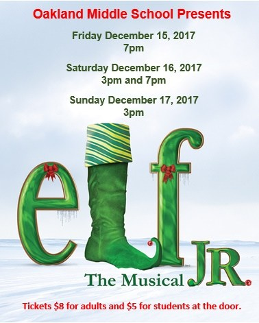 Oakland Middle School Presents Elf Jr. The Musical Thumbnail Image