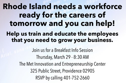 Mentor Breakfast Info Session Flyer
