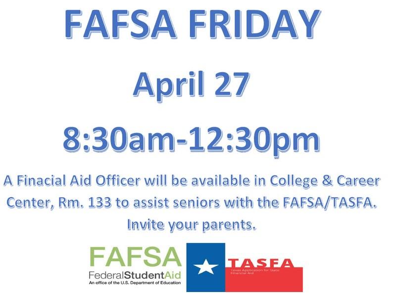 FAFSA Friday flyer