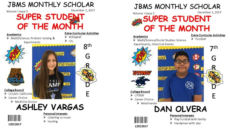 JBMS Student of the Month Featured Photo