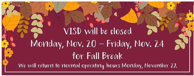 Fall Break Hours Thumbnail Image