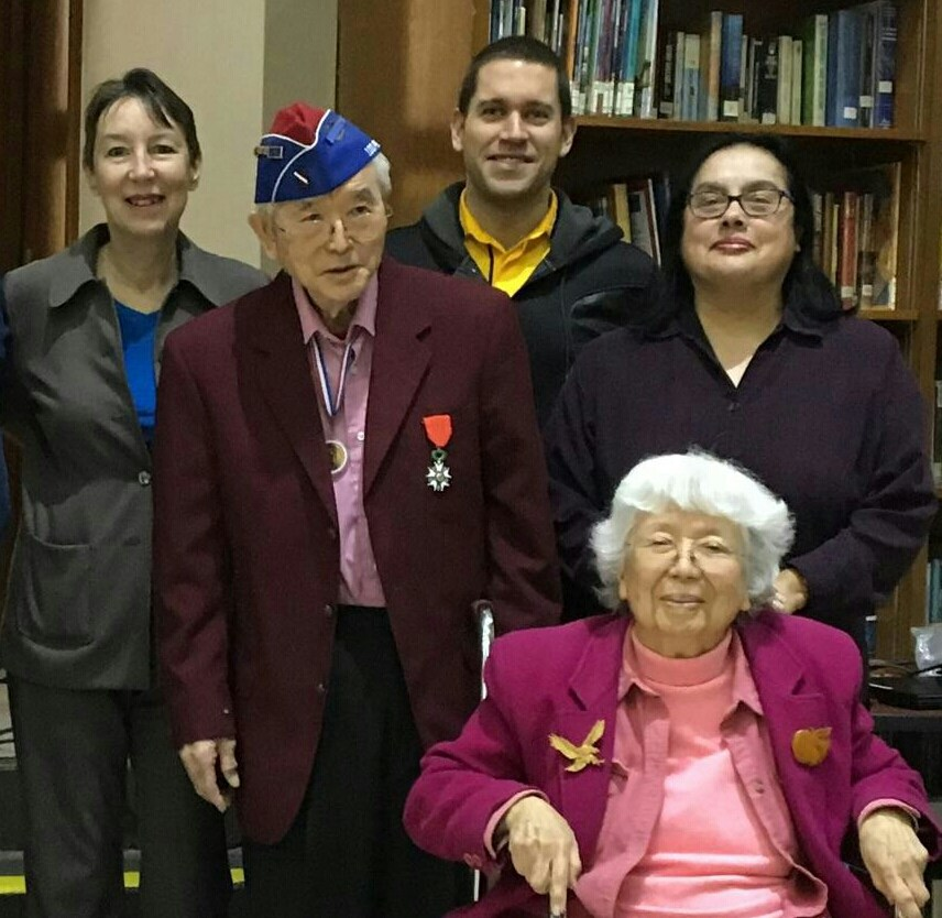 Yoshio and Grace Nakamura, guest speakers who spoke about serving in the 442nd and being interned at Manzanar during WWII. She was my favorite teacher.  Unfortunately, Mrs. Nakamura passed in 2018.