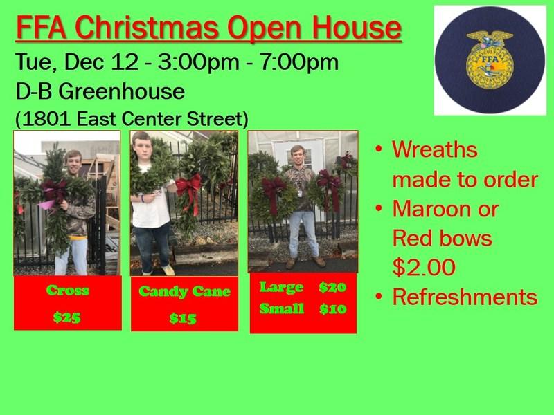 FFA Open house