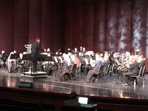 Symphonic band performing at state.