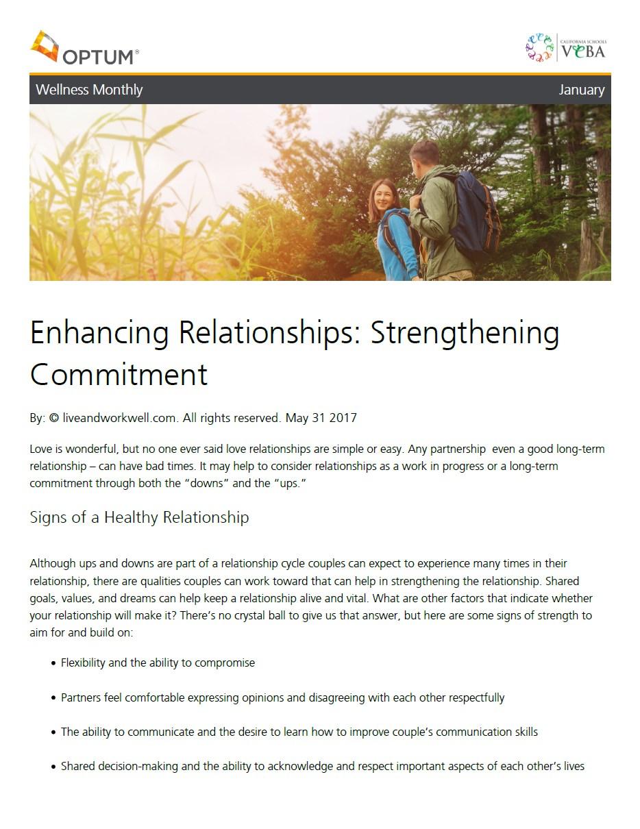 Optum Enhancing Relationships Flyer