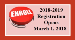 Registration opens for 2018-2019