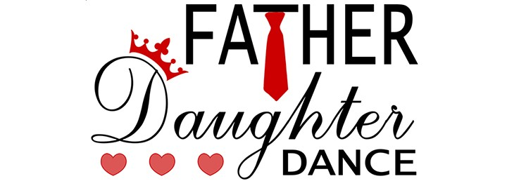 Image of a logo for Father-Daughter dance, which we are promoting for Feb. 24