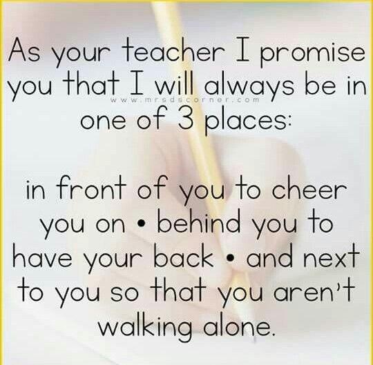 As your teacher