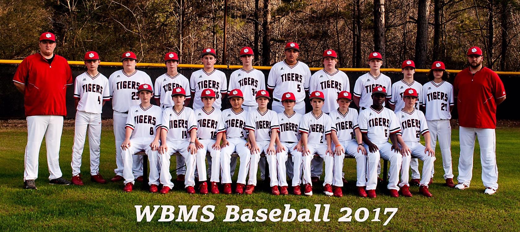 WBMS 2017 Baseball Team