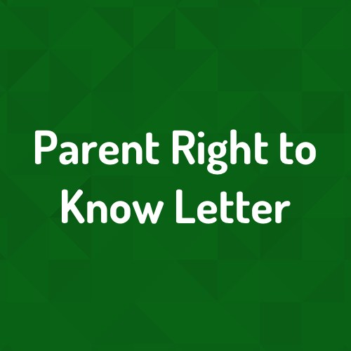 Parent Right to Know Information Featured Photo