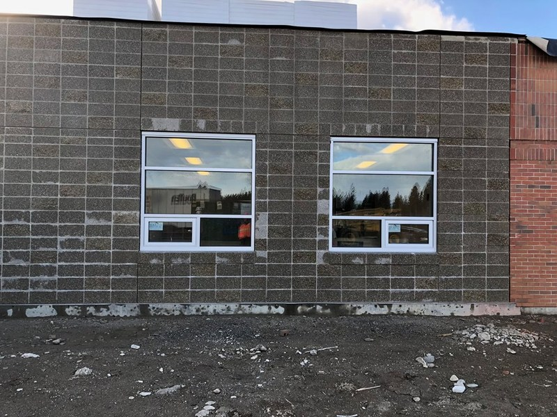 Check out the installation of south wing windows.