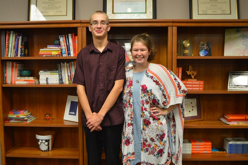 November Students of the Month-Tyr Pett and Kaitlin Jowers