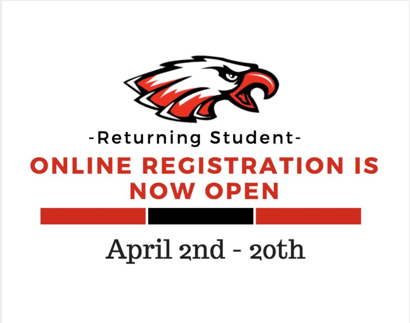 RETURNING STUDENT REGISTRATION INFORMATION Thumbnail Image