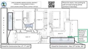 Construction Alternative Parking map with legend