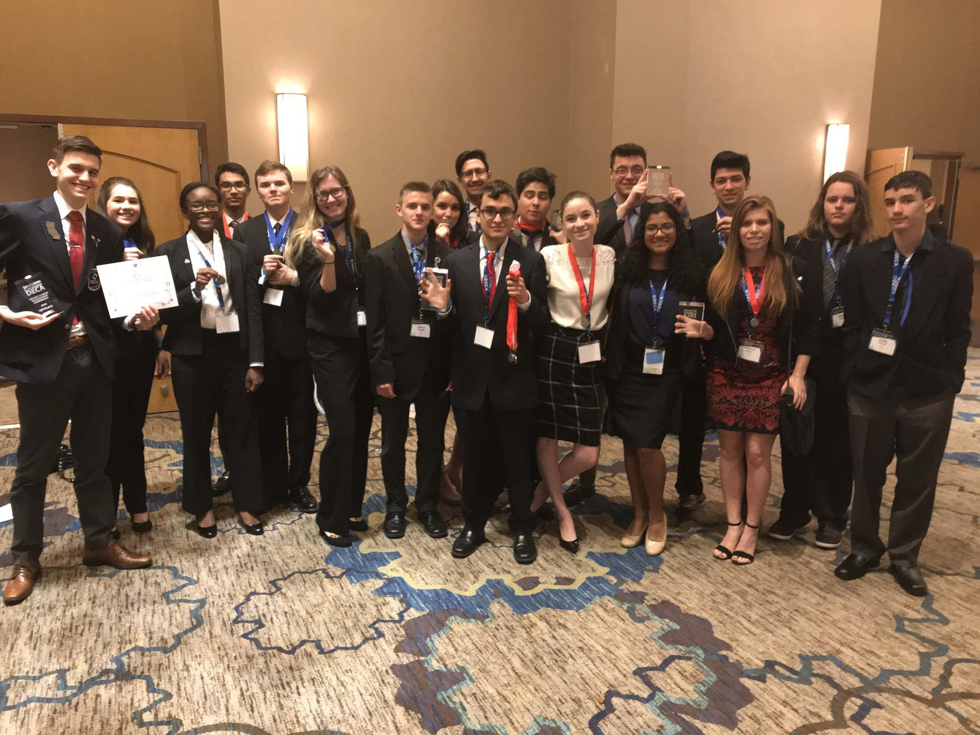 Valencia High School Students DECA Competition
