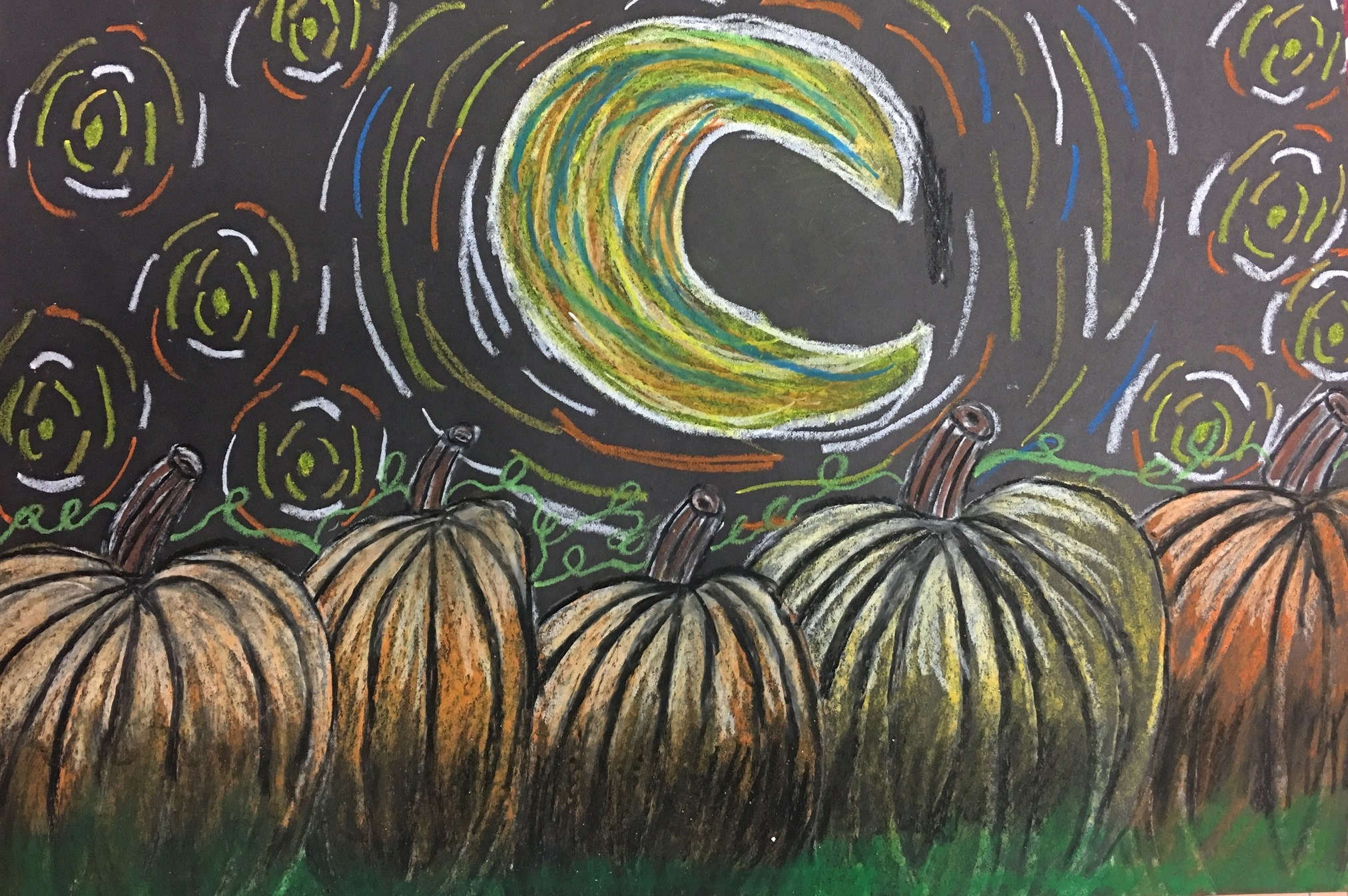 Starry Night Over the Pumpkin Patch