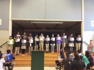 Students receiving Writing awards