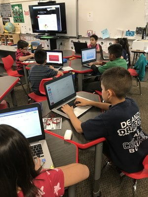Every student in De Anza Elementary teacher Patricia Shelton's third-grade classroom has access to a Chromebook thanks to a technology project that spans nine of the school's 21 classrooms.