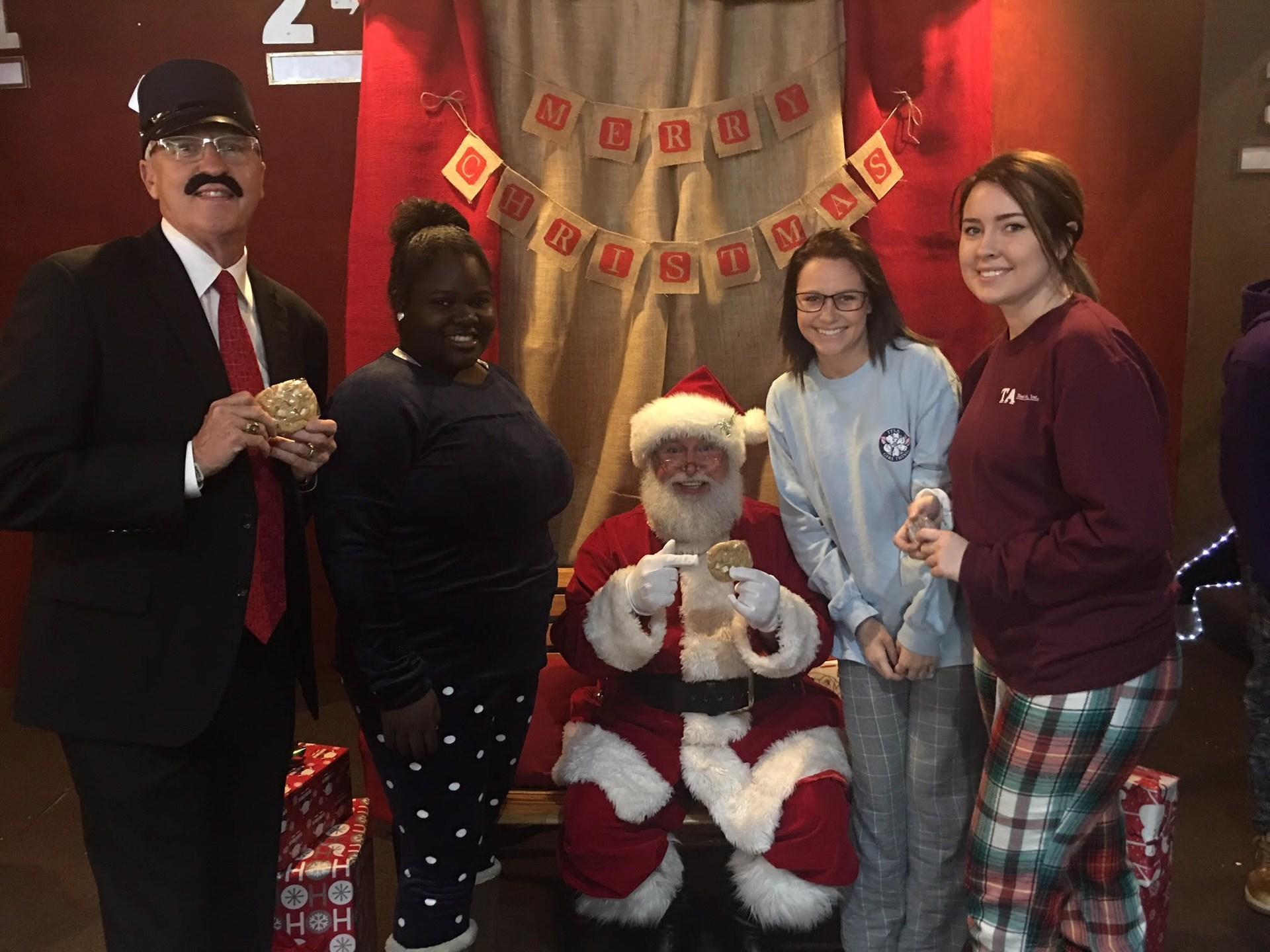 club members with Santa